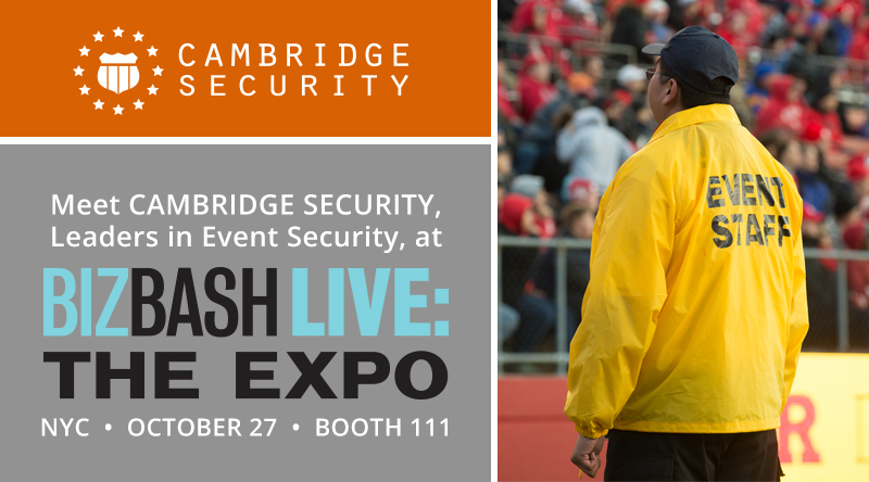 Cambridge Security at BizBash Live: The Expo